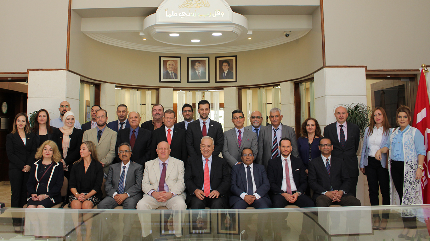 LSC London and Bedfordshire University visit to Middle East University, Jordan